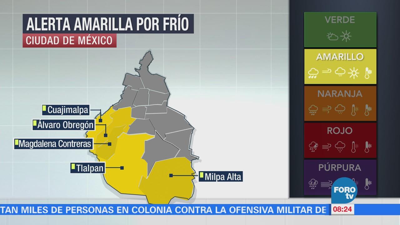 Autoridades alertan por bajas temperaturas en cinco delegaciones de la CDMX