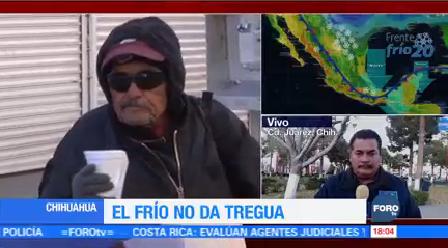 Chihuahua Registra Temperaturas Bajo Cero Primer Día Año