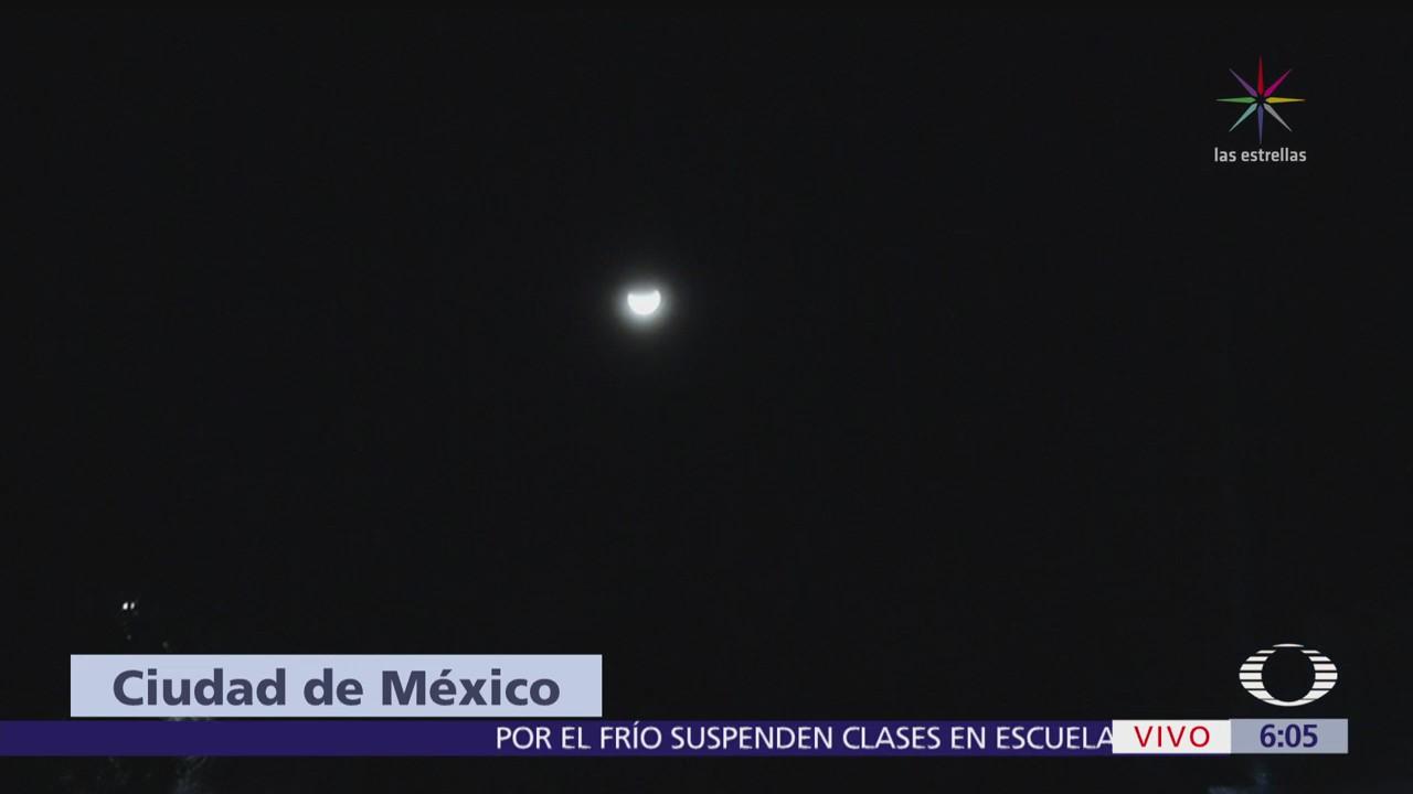 Coinciden 'Súper luna', 'Luna azul' y 'Eclipse total' en México