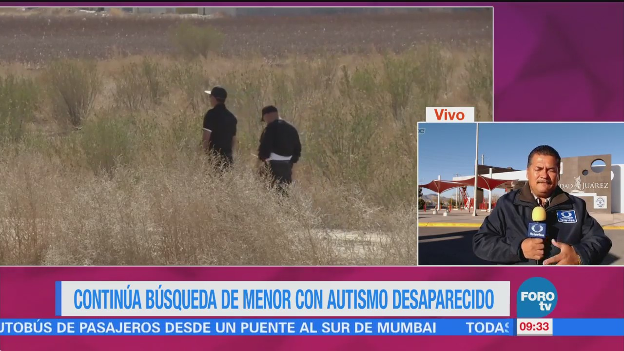 Continúa Búsqueda Menor Autismo Desaparecido Chihuahua