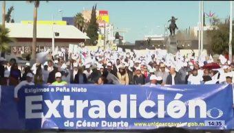 Continúa la 'Caravana por la dignidad', encabezada por Javier Corral