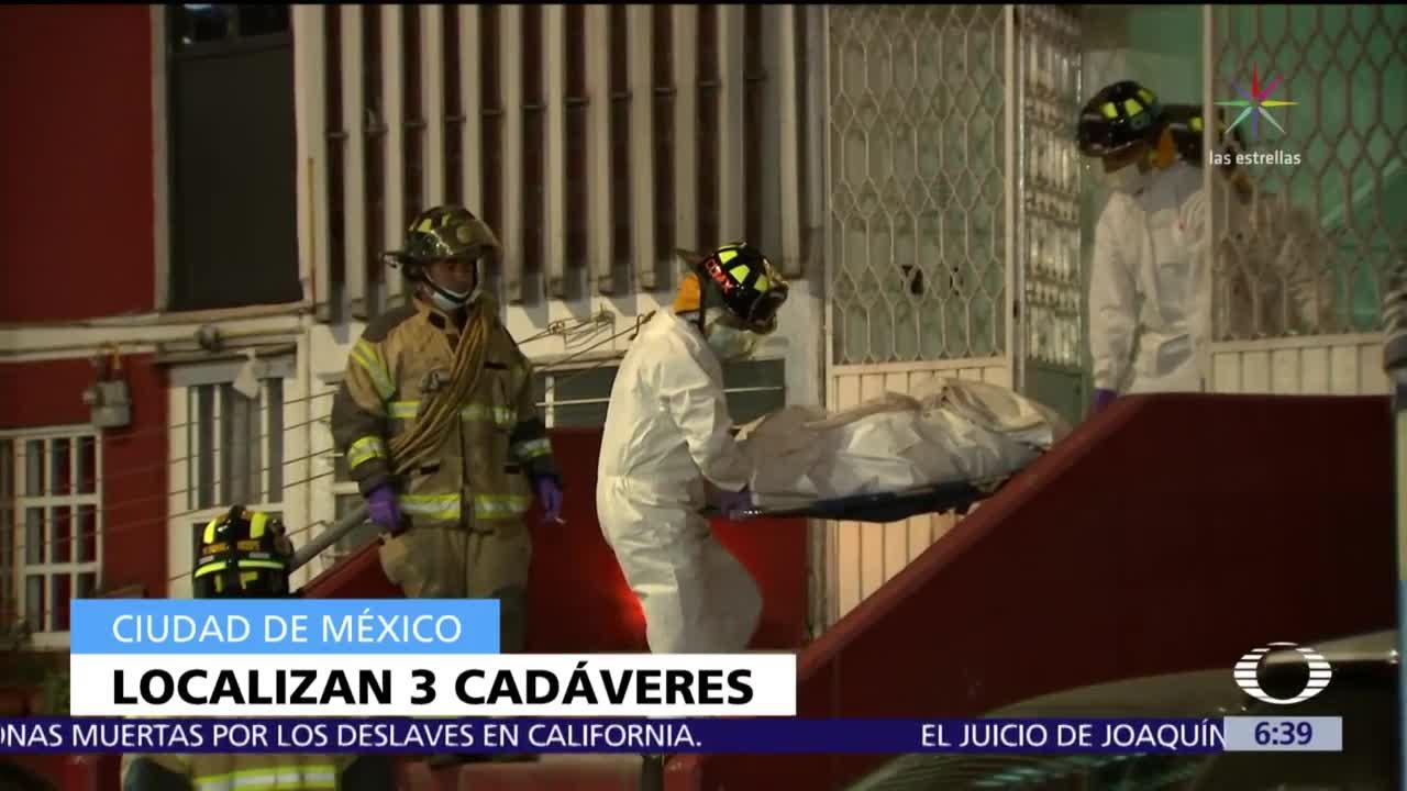 Descubren los cuerpos de una familia en su departamento de Iztacalco