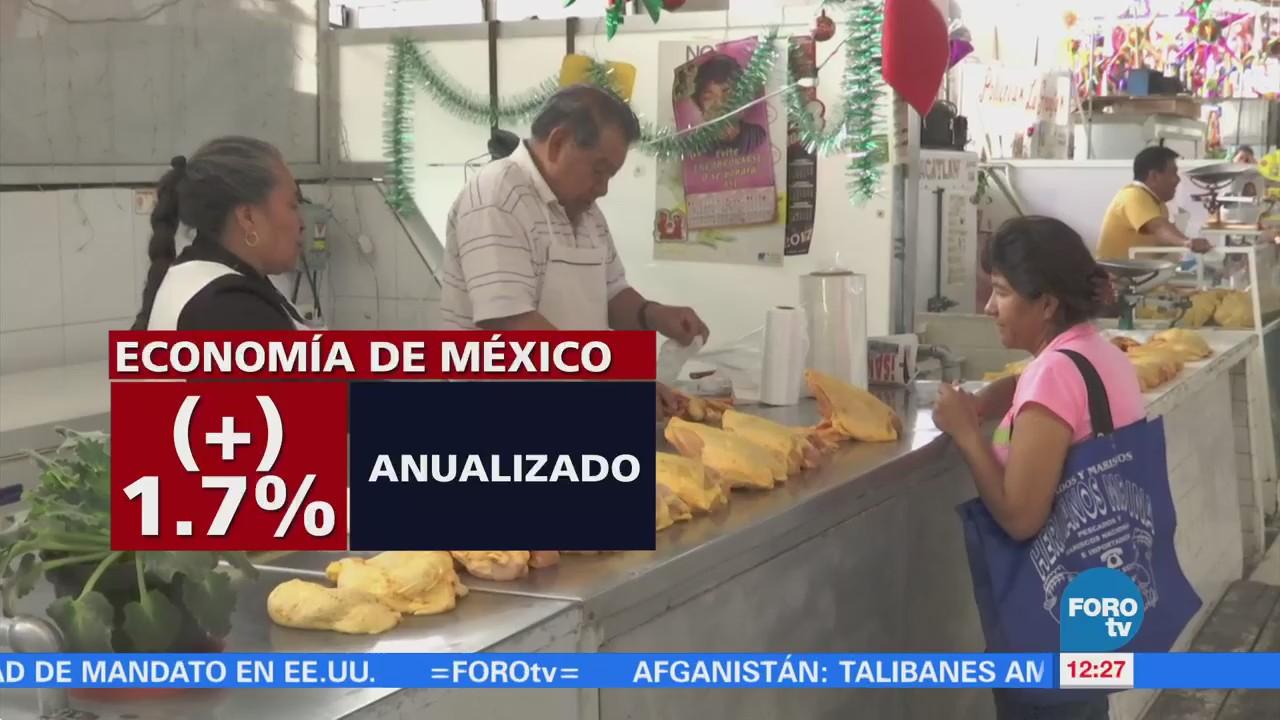 Economía mexicana crece 1% en cuarto trimestre de 2017: INEGI
