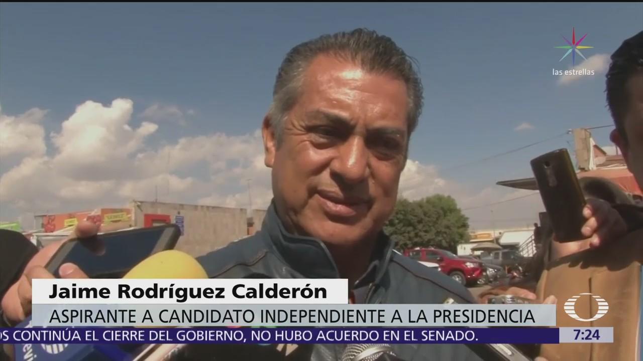 El Bronco afirma que el INE debe denunciar irregularidades en registro de candidatos