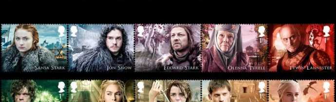 Reino Unido venderá sellos de 'Game of Thrones'