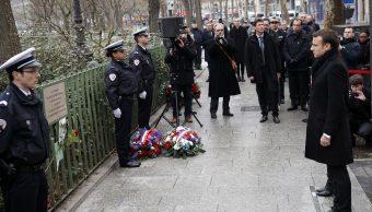 Macron conmemora 3 años de atentados contra 'Charlie Hebdo' y supermercado judío