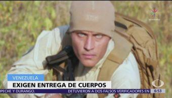 Familiares del expolicía venezolano Óscar Pérez, ya fallecido, exigen devolución del cuerpo