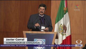 Gobernadores se deslindan de Javier Corral; él pide apoyo al PAN