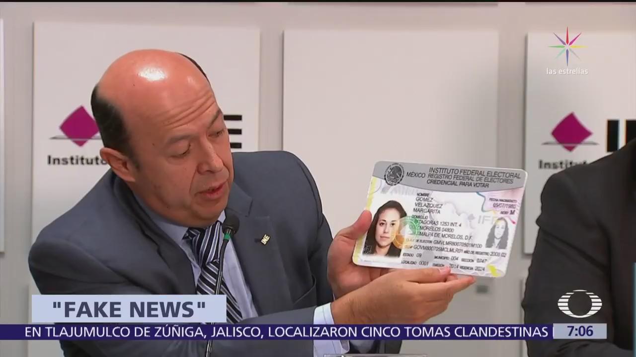 INE denuncia noticias falsas sobre uso de credenciales con leyenda del IFE