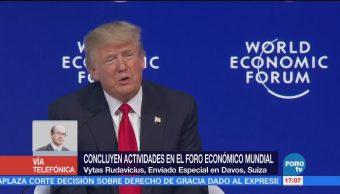 Abuchean Trump Davos Criticar Prensa