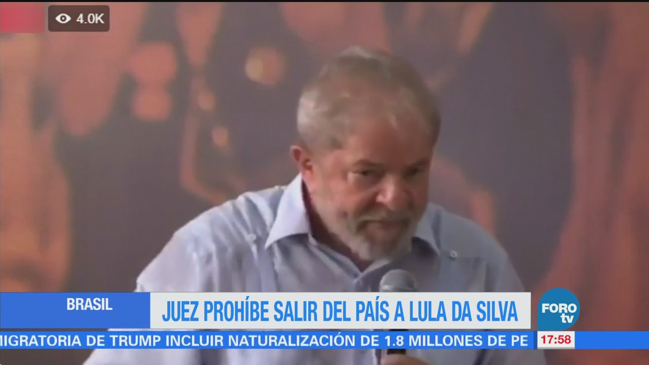 Juez prohíbe a Lula da Silva salir de Brasil