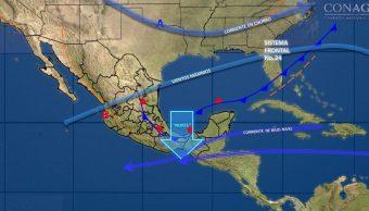 Frente frío 24 provocará temporal de lluvias en gran parte de México