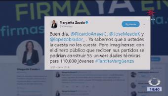 Margarita Zavala Publica Tuit Dirigido Amlo Anaya Meade