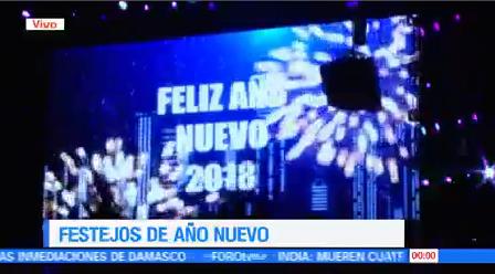 México Bienvenida 2018 Celebra Llegada Año Nuevo
