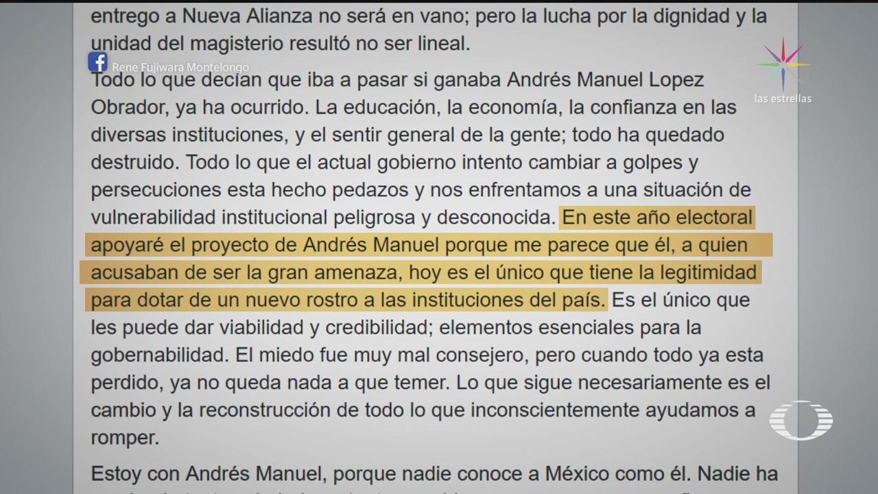 Nieto Elba Esther Gordillo Cierra Filas Amlo