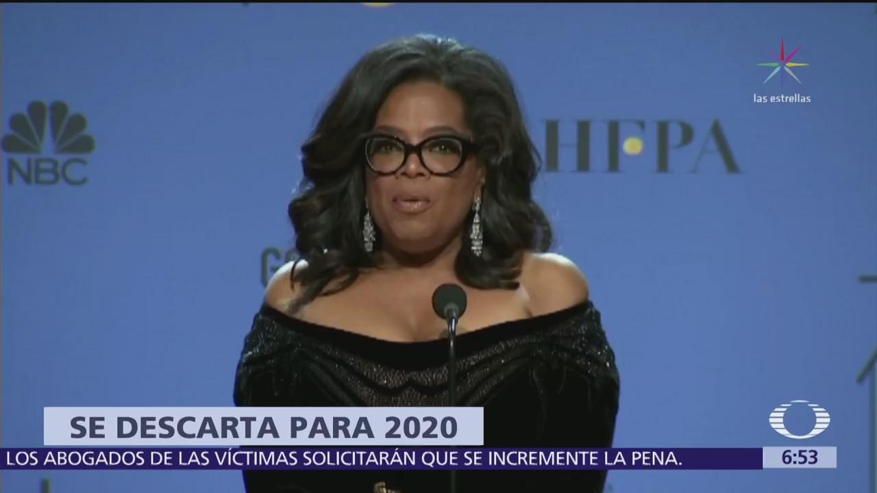 Oprah Winfrey dice que no está interesada en la Presidencia de EU