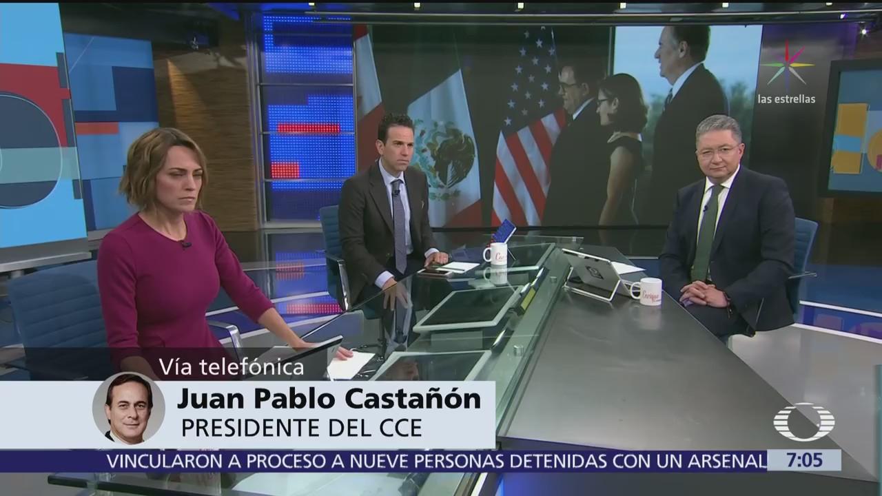 Positivo, cambio de actitud del gobierno Trump sobre el TLCAN, dice Castañon