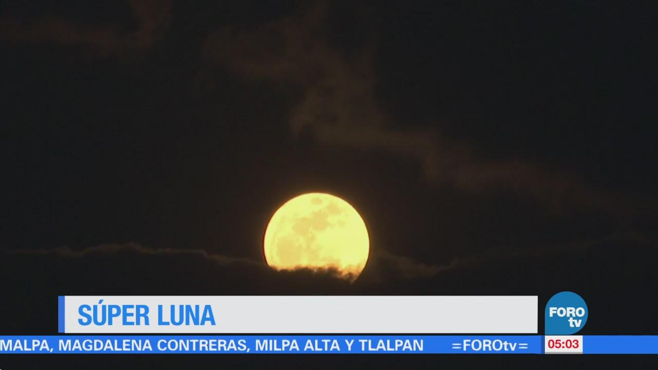 Se aprecian los primeros fenómenos lunares de 2018