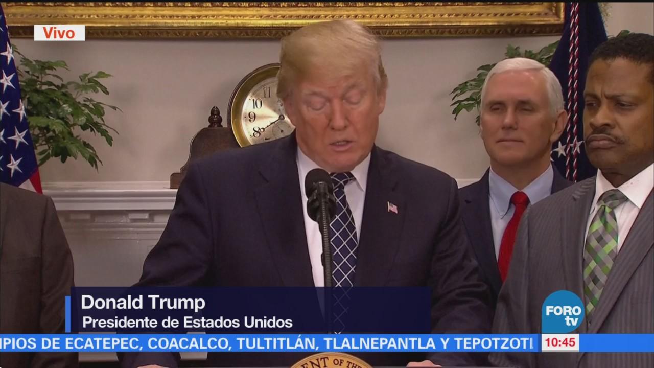Trump preside ceremonia por Día de Martin Luther King Jr