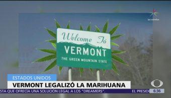 Vermont, noveno estado de EU que legaliza la marihuana recreativa