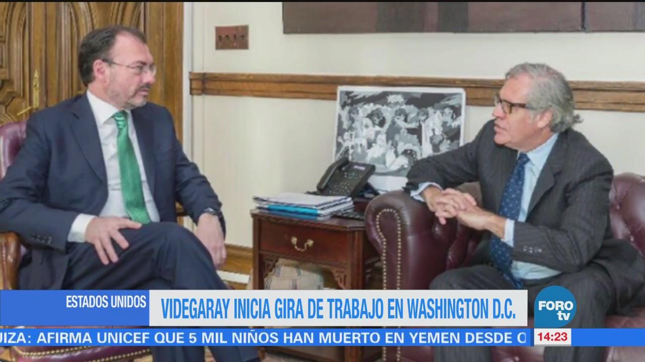 Videgaray Gira Washington Reúne Luis Almagro