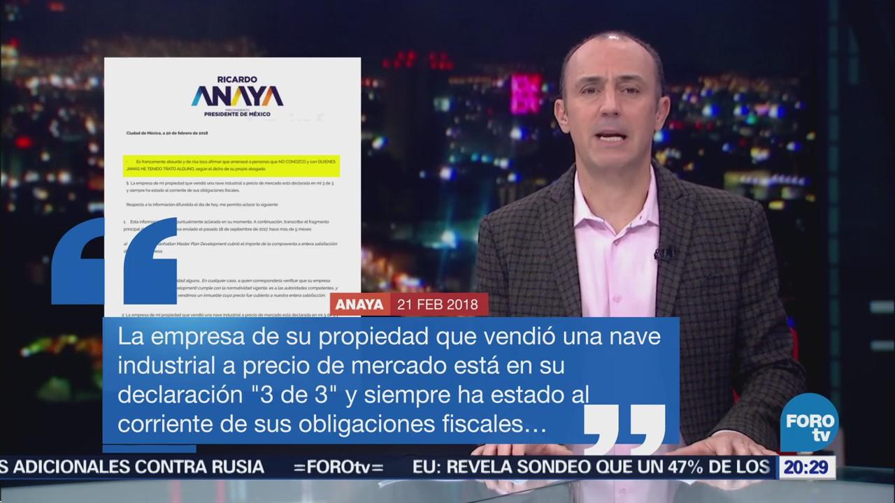 Anaya califica de absurdas acusaciones de utilizar empresas fantasmas