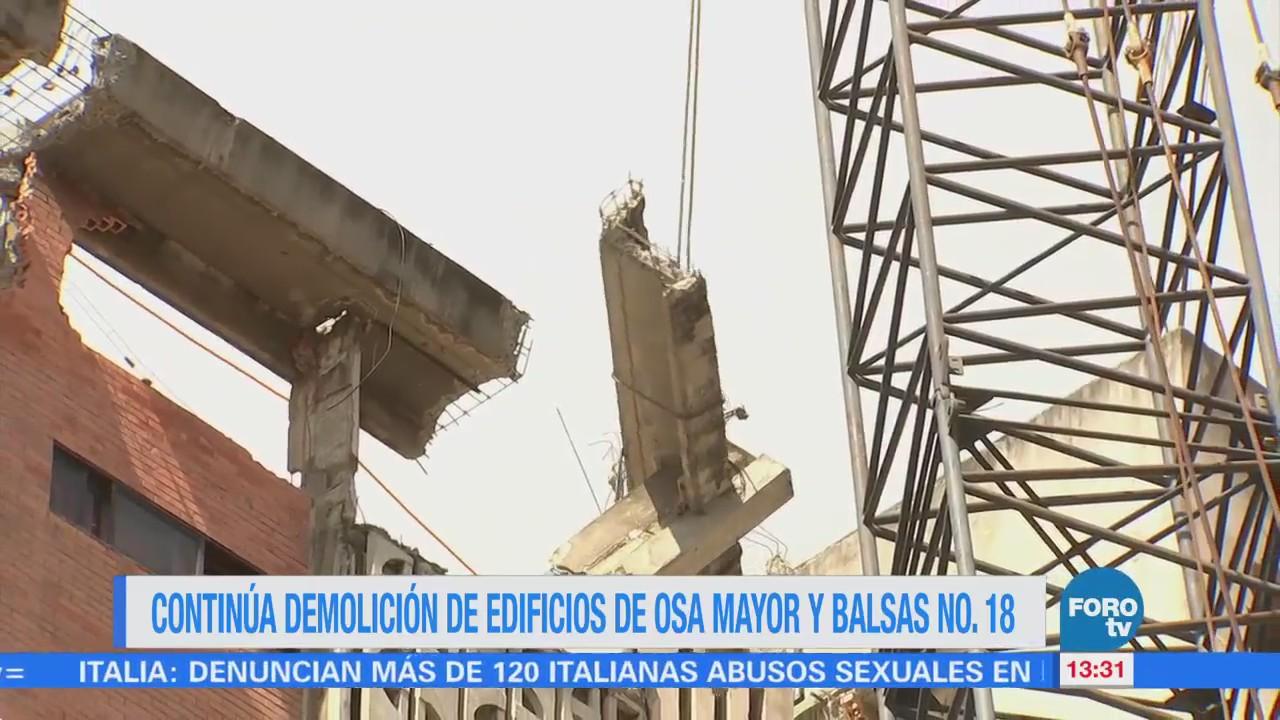Avanza Demolición Edificio Osa Mayor Afectado Sismos Cdmx