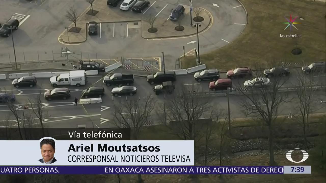 Camioneta choca contra reja de la Agencia Nacional de Seguridad en Maryland