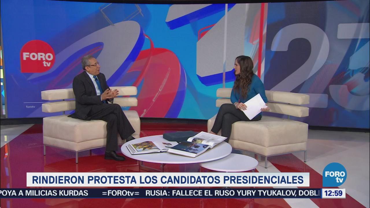 Candidatos a la Presidencia de la República toman protesta
