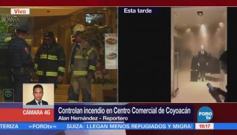 Controlan Incendio Centro Comercial Coyoacán Elementos De Emergencia