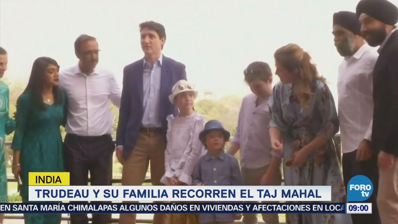Trudeau Familia Vistan Taj Mahal Primer Ministro Canadiense