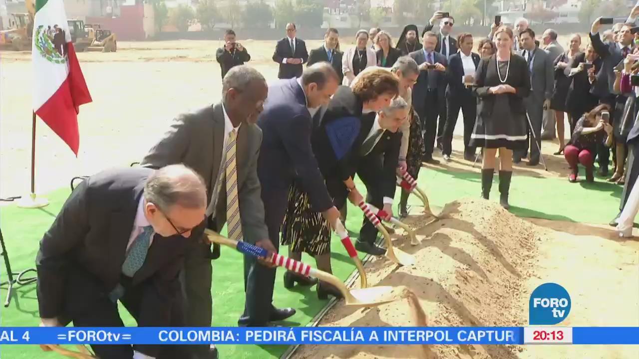 Colocan primera piedra de nueva embajada de Estados Unidos en México