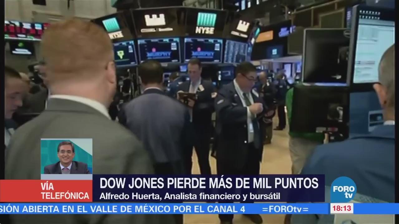 ¿Cómo afectan las caídas del Dow Jones en Estados Unidos?