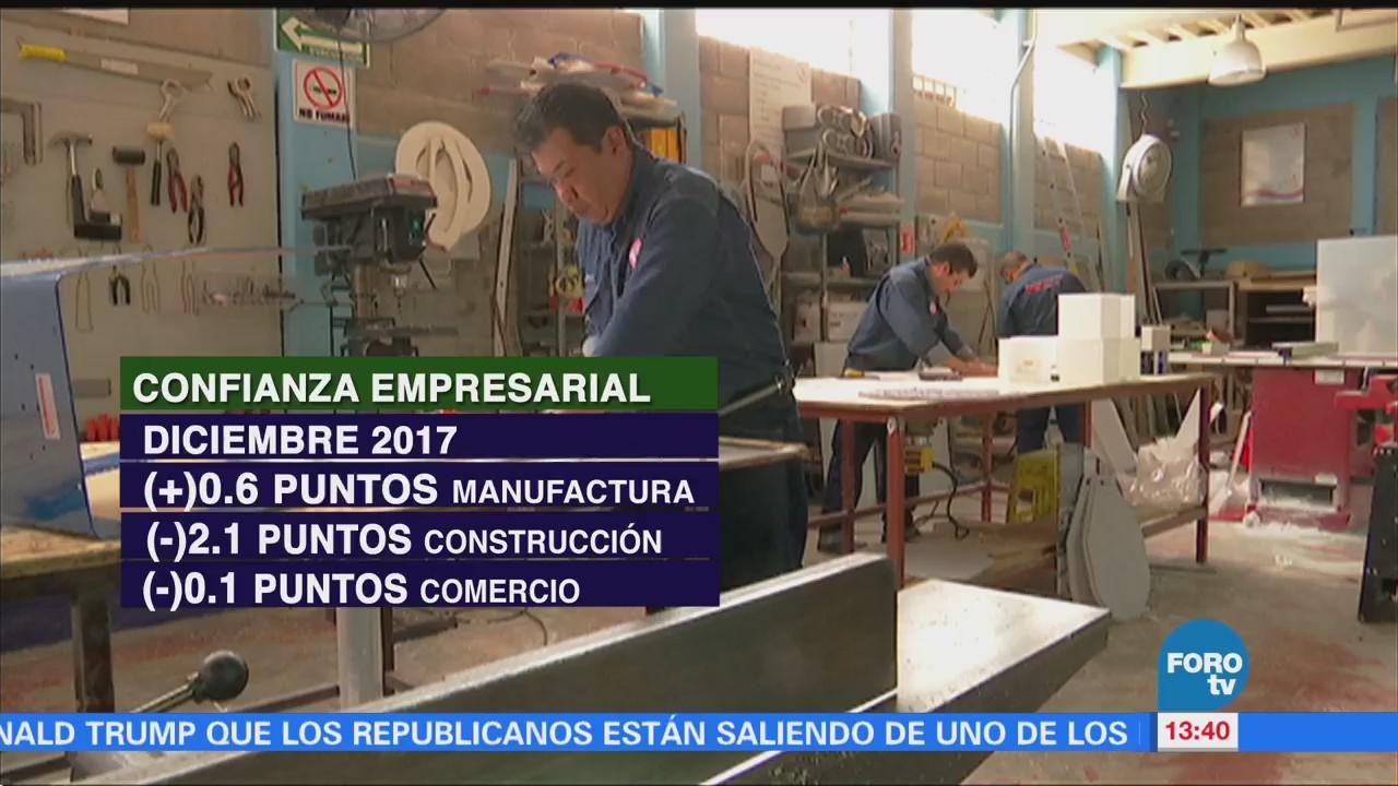 Confianza empresarial del sector manufacturero aumenta en enero