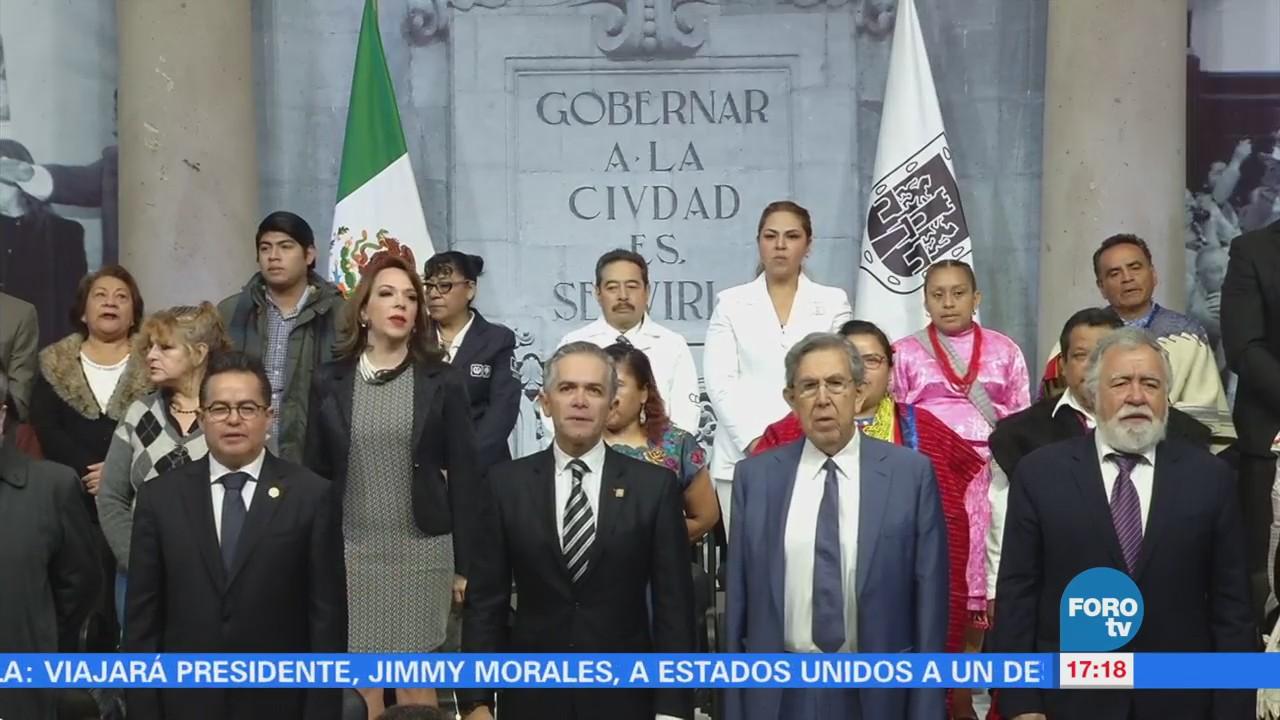 Conmemoran primer aniversario de la Constitución de la CDMX