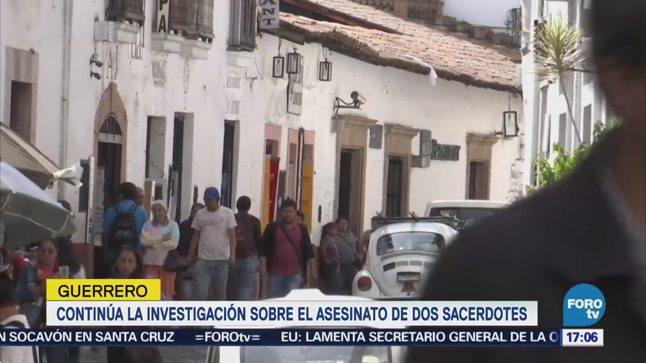 Continúa la investigación sobre asesinato de sacerdotes en Taxco