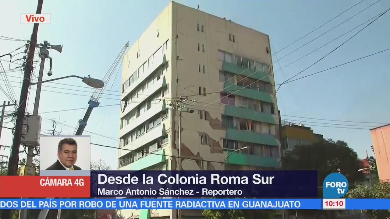 Damnificados Colonia Roma Sur Sacan Pertenencias