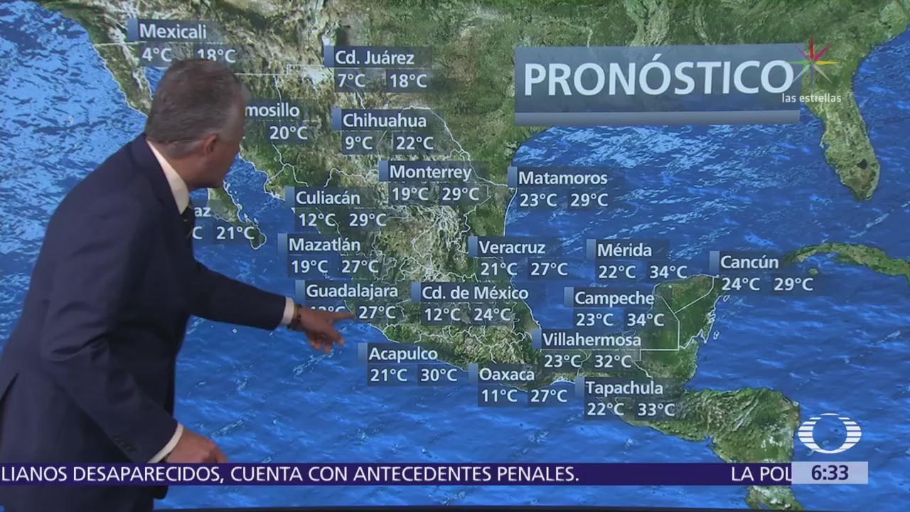 Despierta con Tiempo: Frente frío 31 ocasionará tormentas en el norte y noreste