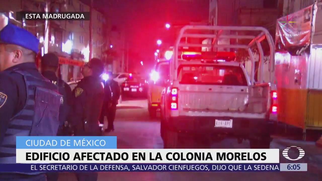 Edificio en la colonia Morelos resulta afectado por sismo