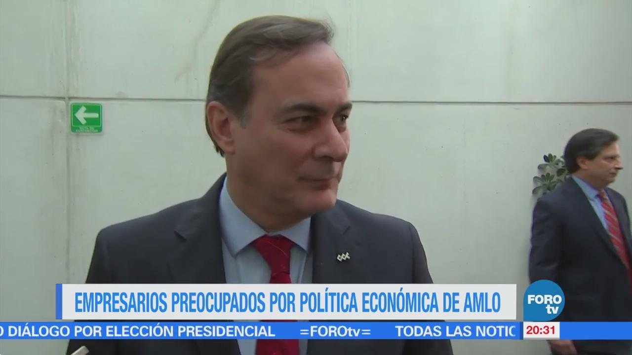 Empresarios preocupados por política económica de AMLO