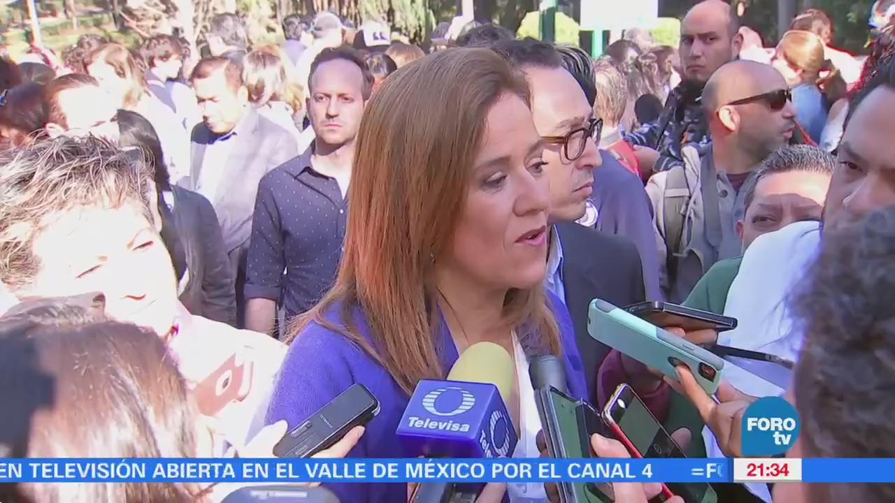 """Encabeza Margarita Zavala """"firmatón"""" en el Parque Hundido"""