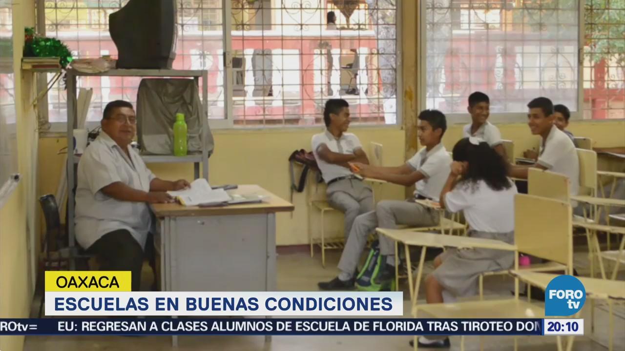Escuelas en buenas condiciones tras sismo en Oaxaca