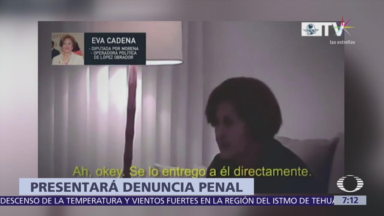 Eva Cadena denunciará penalmente a quienes tramaron los videos donde recibió dinero