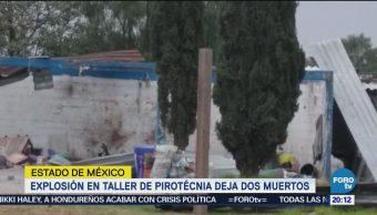 Explosión en taller de pirotecnia deja dos muertos en Tultepec