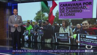 Gobernador de Chihuahua inicia caravana hacia la Ciudad de México