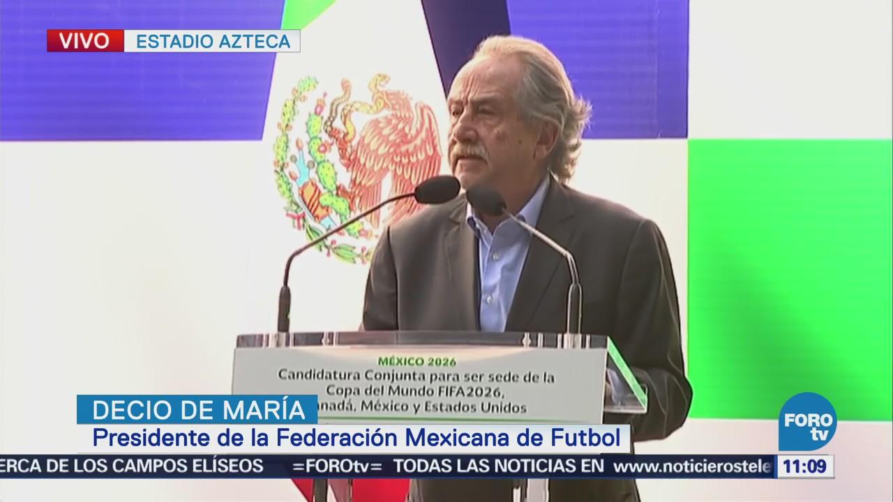 Gobierno Federal entrega garantías para candidatura de la Copa del Mundo 2026