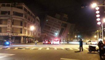 Sismo de magnitud 6.0 sacude Taiwán; colapsa estructura de un hotel