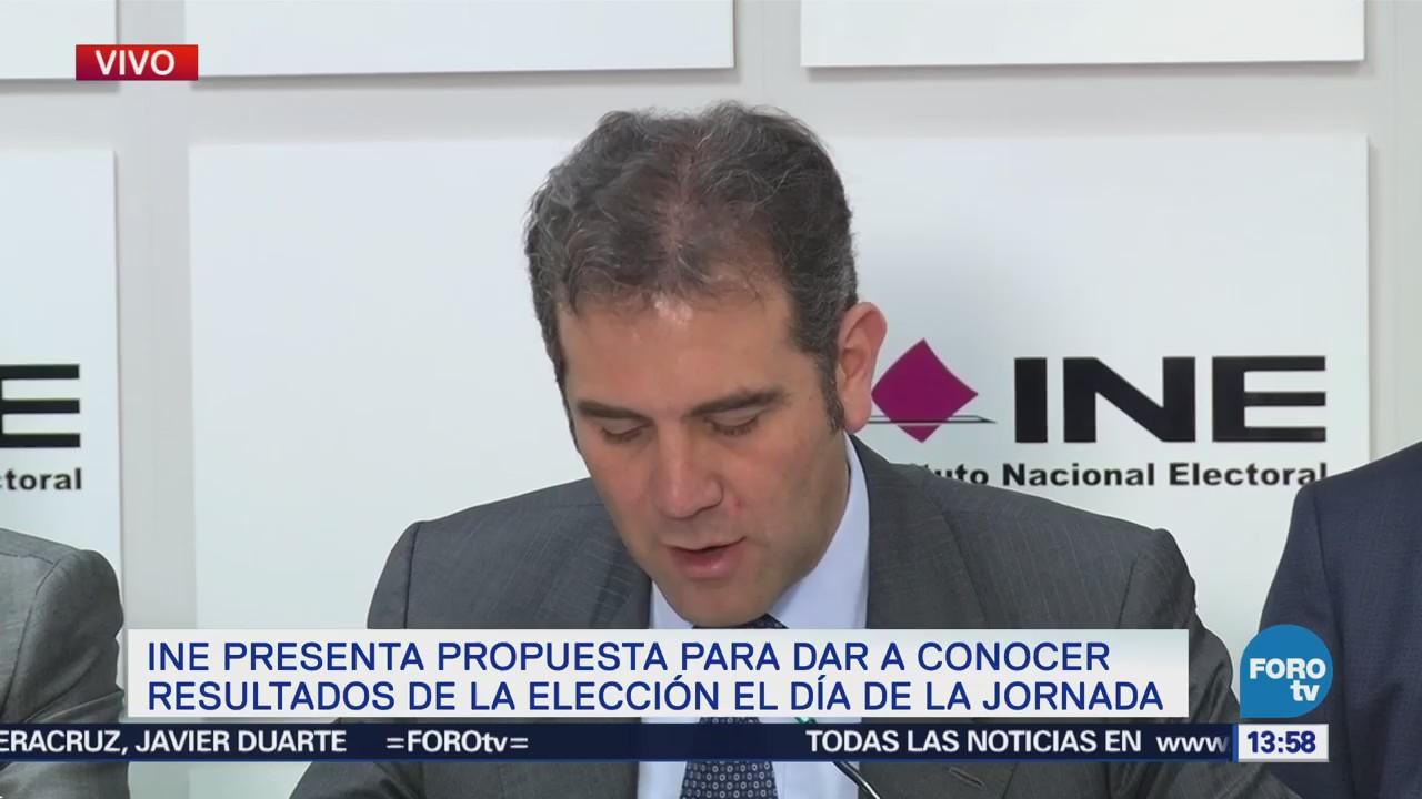 Ine Presenta Propuestas Dar Conocer Resultados Elección Día Jornada