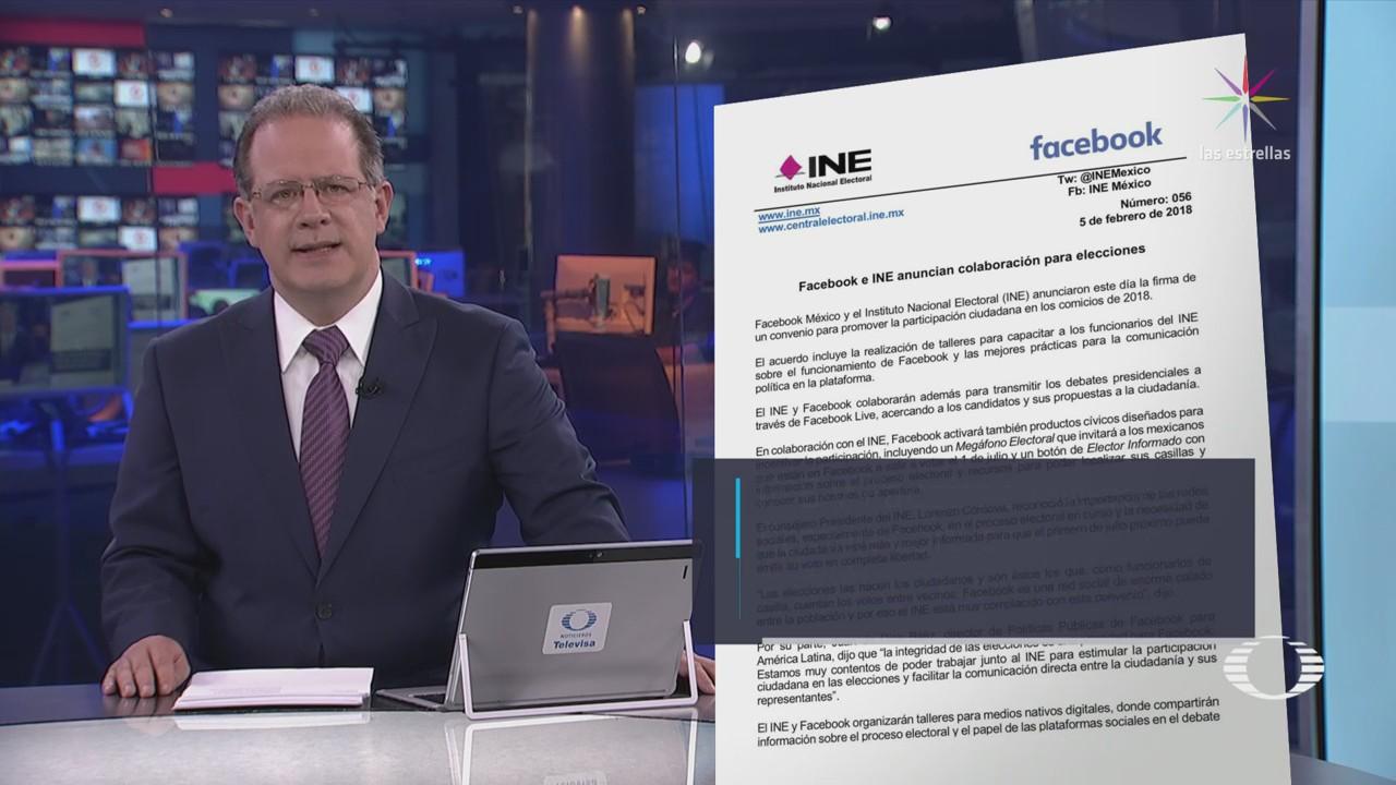 INE y Facebook pactan convenio para detectar noticias falsas