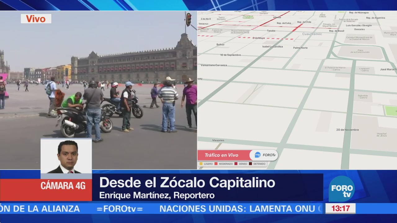 Llegan Manifestantes Provenientes Tlalpan Zócalo Cdmx